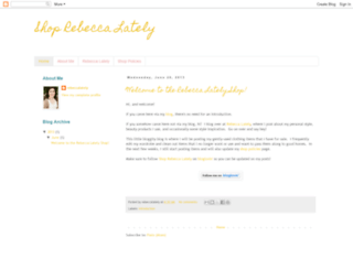 shoprebeccalately.blogspot.com screenshot