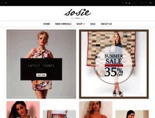 shopsosie.com screenshot