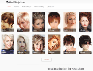 short-hairstyles.com screenshot