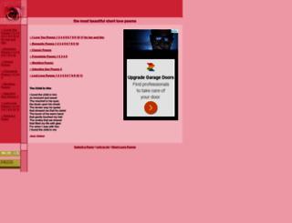 short-love-poem.com screenshot