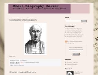 short2biography.blogspot.com screenshot