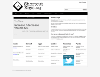 shortcutkeys.org screenshot