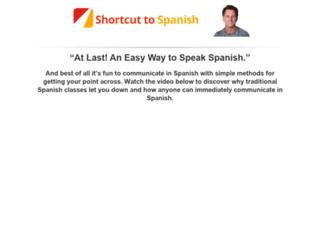 shortcuttospanish.com screenshot