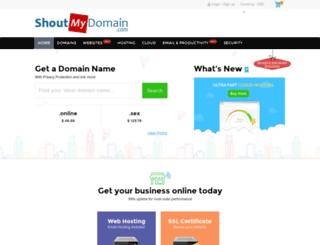 shoutmydomain.com screenshot