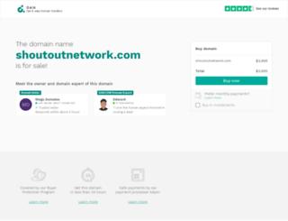 shoutoutnetwork.com screenshot