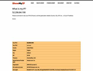 showmyip.com screenshot