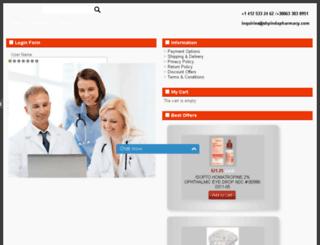 shpindapharmacy.com screenshot