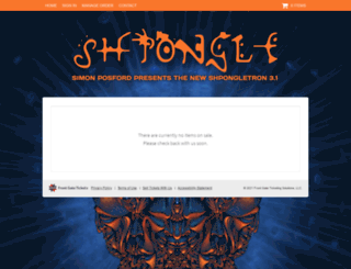 shpongle.frontgatetickets.com screenshot