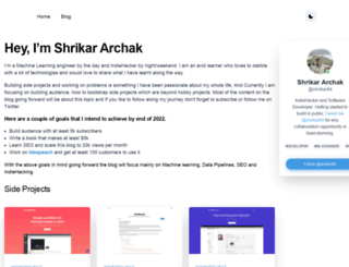 shrikar.com screenshot