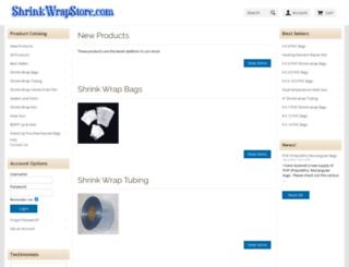 shrinkwrapstore.com screenshot