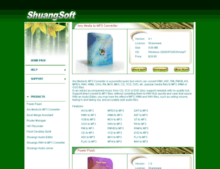 shuangsoft.com screenshot