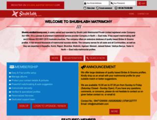 shubhlabhmatrimony.com screenshot