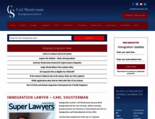 shusterman.com screenshot