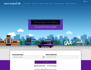 shuttletolax.com screenshot