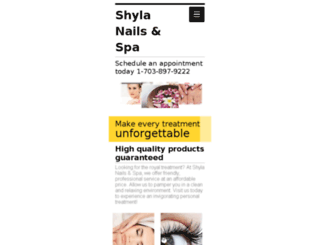 shylanailsspa.com screenshot