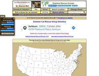 siamese.rescueshelter.com screenshot