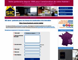 sic-devis.fr screenshot