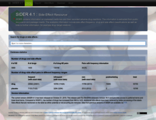 sideeffects.embl.de screenshot