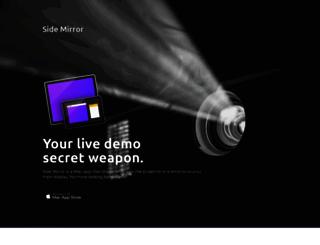 sidemirrorapp.com screenshot