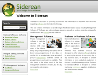 siderean.com screenshot