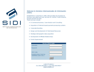 sidi.co.cr screenshot