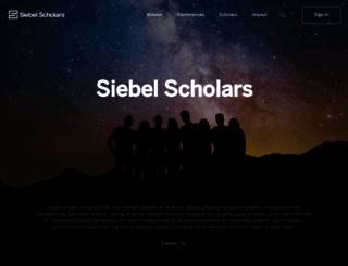 siebelscholars.com screenshot