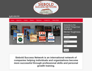 sieboldsuccessnetwork.com screenshot