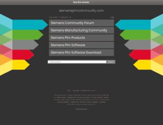 siemensplmcommunity.com screenshot