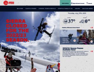 sierraattahoe.com screenshot