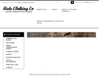 sieteclothingco.com.au screenshot