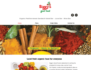 siggysgoodfood.com screenshot
