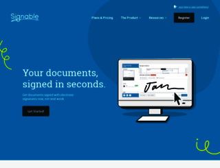 signable.co.uk screenshot