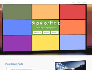signagehelp.com screenshot