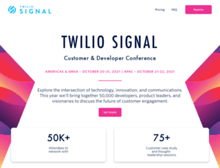 signal.twilio.com screenshot