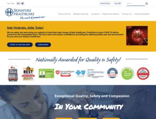 signature-healthcare.org screenshot