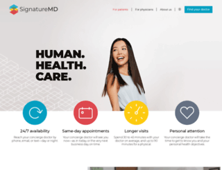 signaturemd.com screenshot