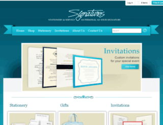 signaturesstationeryandinvites.myshopify.com screenshot