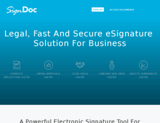 signdoc.co.de screenshot