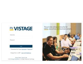 signon.vistage.com screenshot