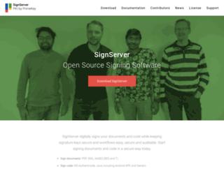 signserver.org screenshot