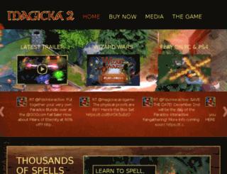 signup.magicka2.com screenshot