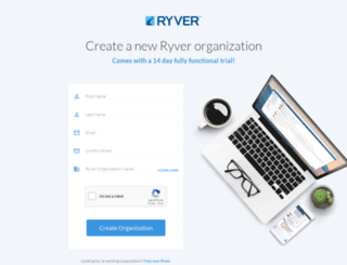 signup.ryver.com screenshot