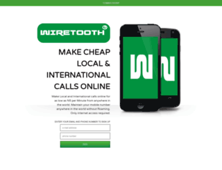 signup.wiretooth.com screenshot