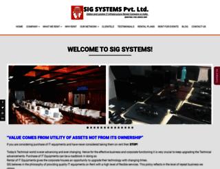 sigsystems.com screenshot