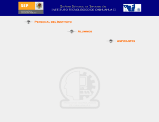 sii.itchihuahuaii.edu.mx screenshot
