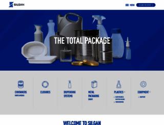 silgan.com screenshot