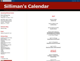sillimanscalendar.blogspot.com screenshot