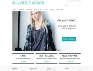 silvercharmclothing.com screenshot