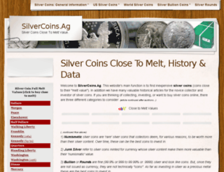 silvercoins.ag screenshot
