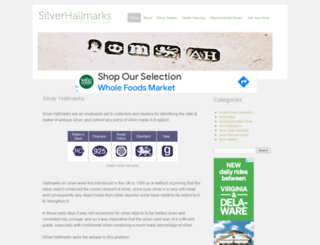 silverhallmarks.org.uk screenshot